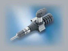 Ci-dessus l'injecteur pompe Piézo électrique de SIEMENS qui est fort semblable à l'injecteur pompe co-développé par BOSCH & VAG.
